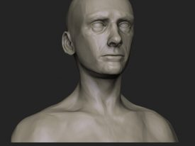 Male Face Practice Early 16